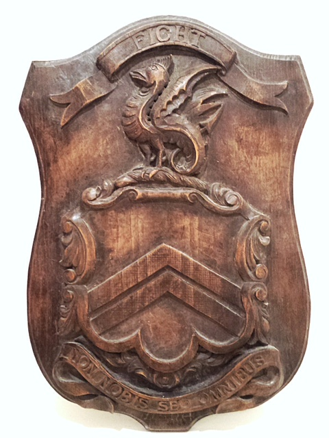 Ashe Arms carving