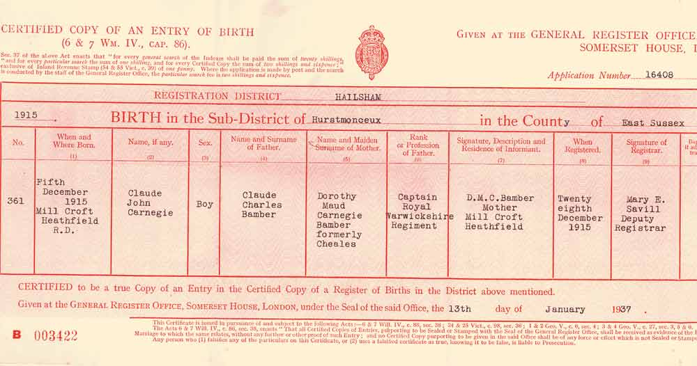 Certificates And Documents Ashe Family