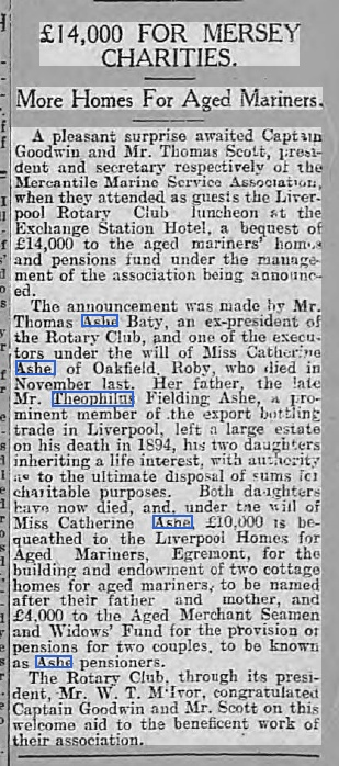 1923-donation from Catherine Ashe, Cork Examiner,18 Jan 1923