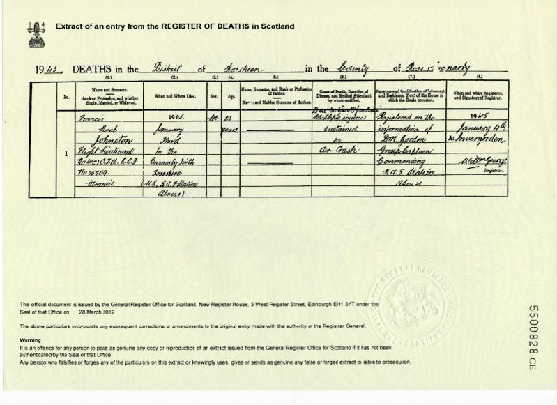 Certificates and documents ashe family 1945 death certificate yelopaper Image collections