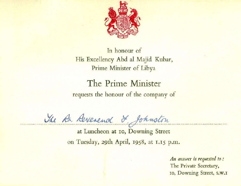 Invitation to 10 downing street ashe family search stopboris Choice Image