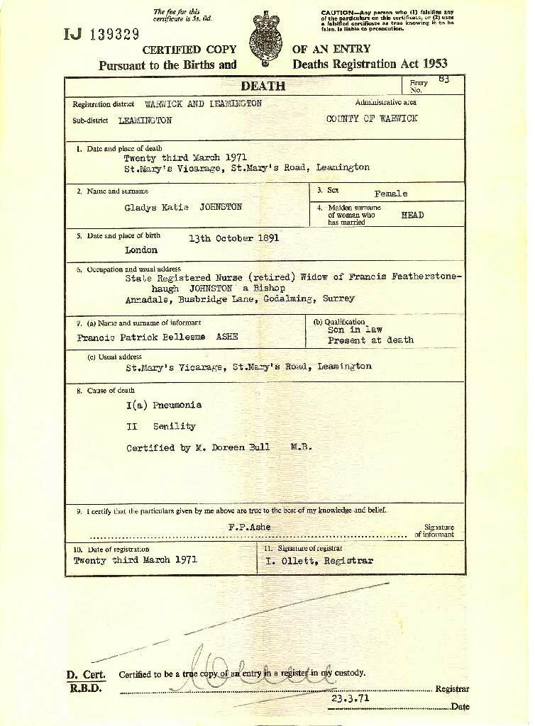 Certificates and documents ashe family 1971 death certificate yadclub