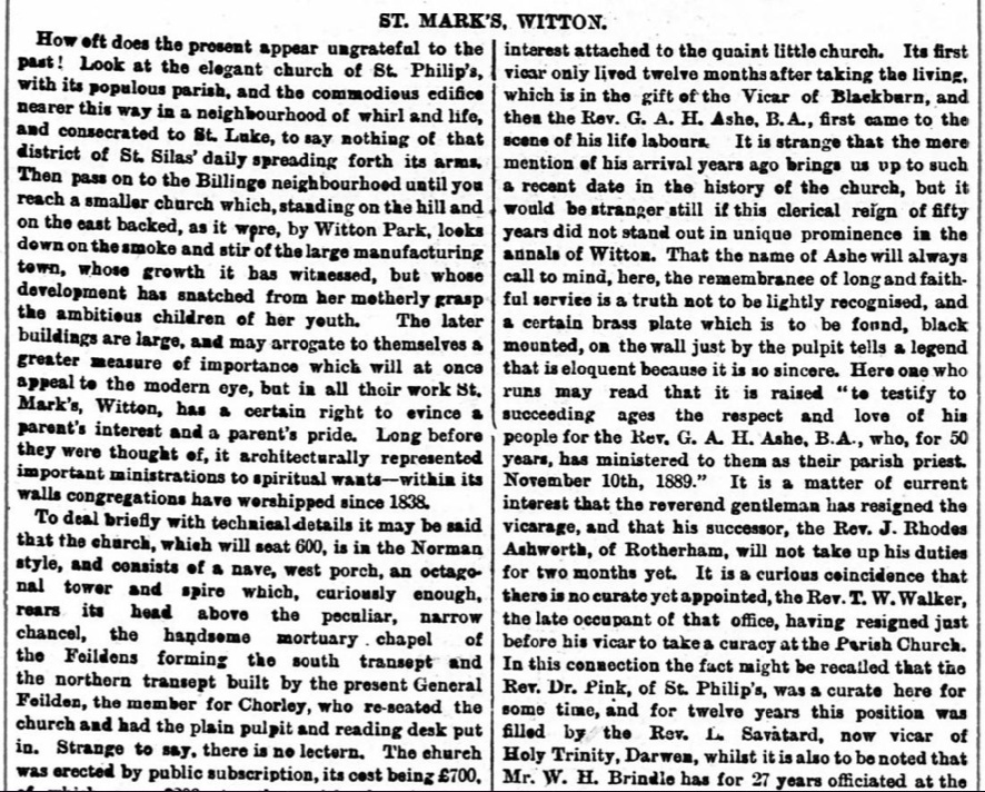 Article-St. Mary's Church, Witton-The Weekly Standard and Express, 18 Aug 1894-2