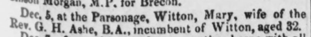 Death-Mary Ogle-Liverpool Mercury, 11 Dec 1846