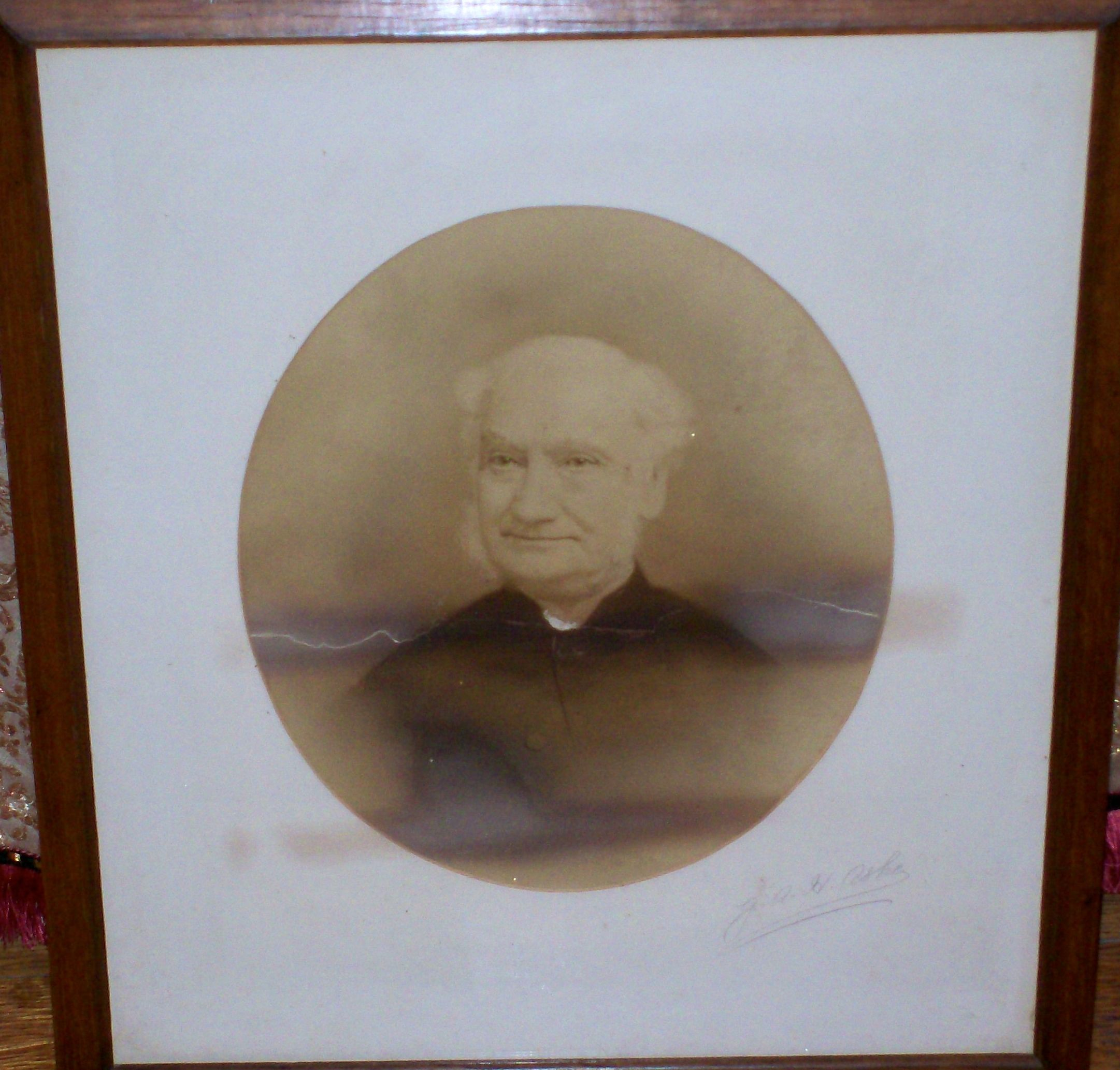 Rev. G. A. H. Ashe - framed photo at Witton Church
