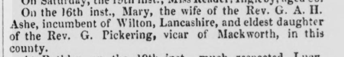 death-Mary Pickering-Derby Mercury, 23 Dec 1857