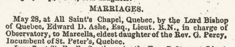 1851, Marriage, Ashe-Percy